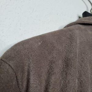 BB Dakota Sweaters - BB Dakota Brown Faux Suede Waterfall Open Cardigan